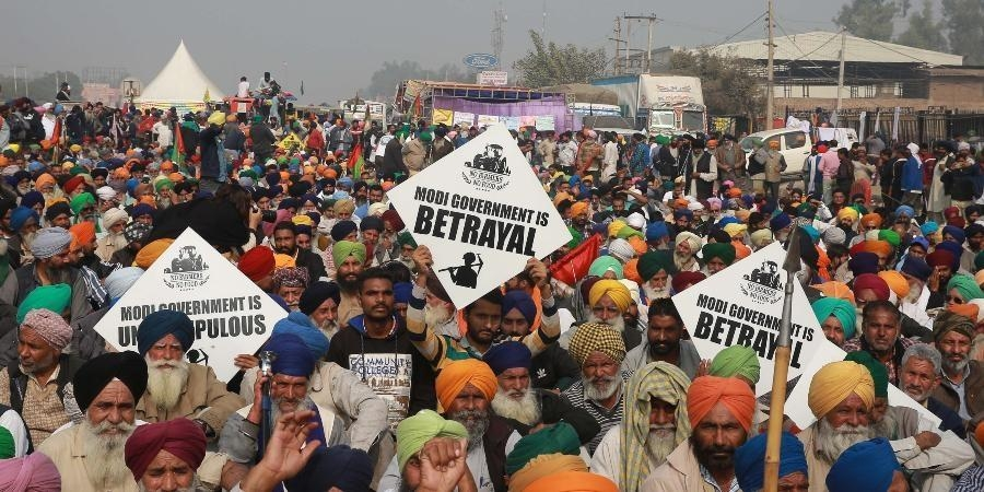 Farmers protest against at BJP events